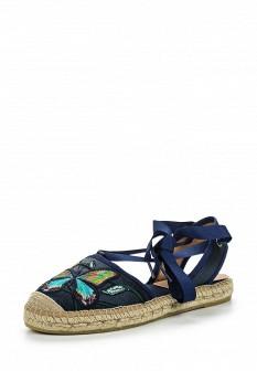 Женские синие испанские сандалии