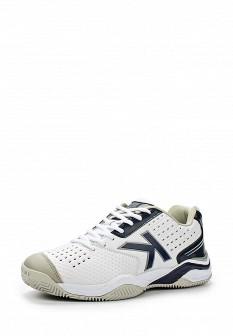 Мужские белые синие кожаные кроссовки