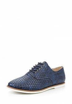Женские синие осенние кожаные ботинки