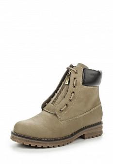 Женские бежевые осенние кожаные ботинки
