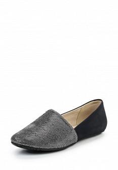 Женские серебряные текстильные туфли