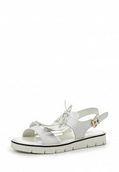Женские белые кожаные сандалии