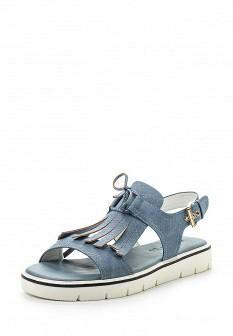 Женские синие сандалии из нубука