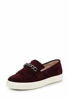 Женские бордовые осенние туфли лоферы