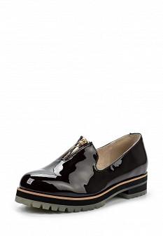 Женские бордовые кожаные лаковые туфли лоферы