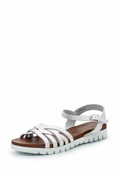Женские белые немецкие кожаные сандалии