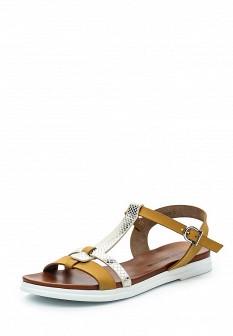 Женские бежевые немецкие кожаные сандалии из нубука