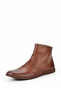 Женские коричневые осенние кожаные ботинки