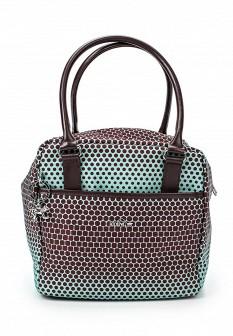 Женская зеленая коричневая сумка