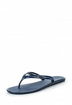 Женские синие шлепанцы Lacoste