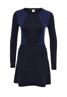 Синее осеннее платье Lacoste