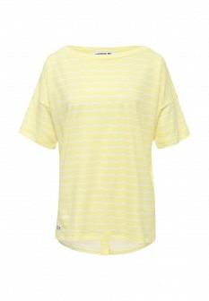 Женская желтая футболка Lacoste