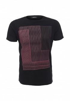 Мужская черная осенняя футболка