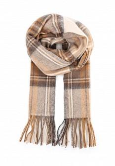 Мужской бежевый осенний шарф