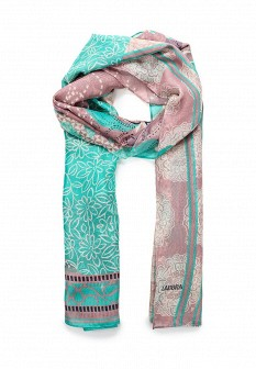 Женский бирюзовый розовый осенний шарф