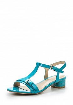 Женские бирюзовые кожаные сандалии