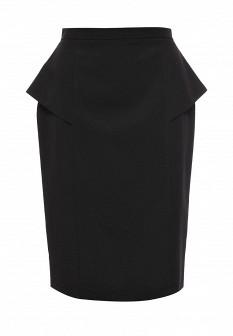 Черная осенняя юбка Levall