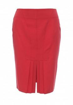 Красная осенняя юбка