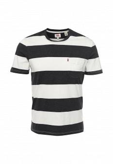 Мужская белая черная футболка