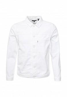 Мужская белая осенняя джинсовая куртка