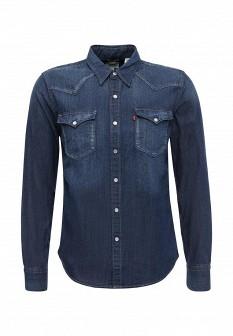 Мужская синяя осенняя джинсовая рубашка