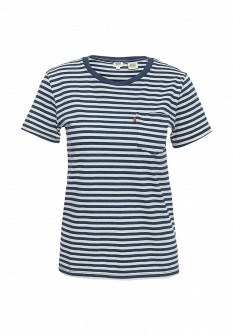 Женская синяя футболка Levi