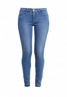 Женские голубые синие джинсы скини