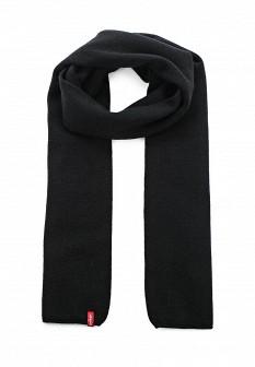 Мужской черный осенний шарф Levi
