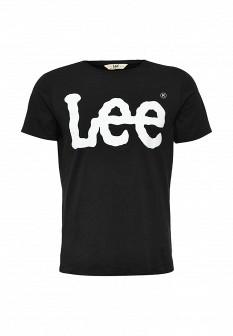 Мужская черная футболка LEE