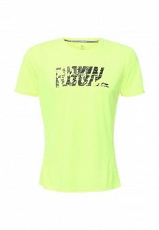 Мужская желтая зеленая осенняя футболка