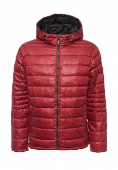 Мужская бордовая утепленная осенняя куртка