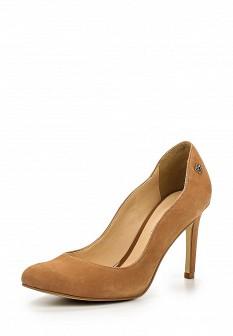 Женские коричневые туфли на каблуке