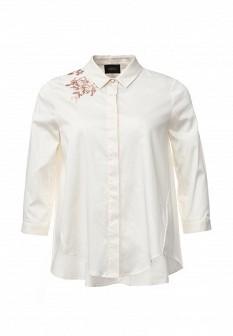 Женская бежевая осенняя рубашка