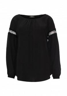Черная итальянская осенняя блузка