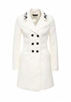 Женское белое осеннее пальто