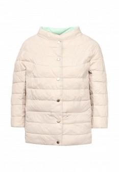 Женская бежевая мятная утепленная осенняя куртка