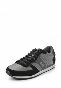 Мужские серые черные кожаные кроссовки