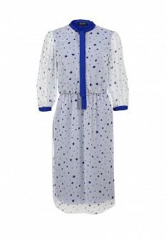 Белое синее платье LuAnn
