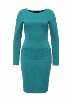 Бирюзовое осеннее платье LuAnn