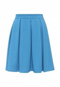 Голубая осенняя юбка