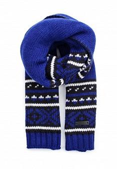 Мужской синий черный осенний шарф