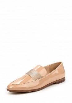 Женские кожаные лаковые текстильные туфли лоферы