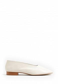 Женские бежевые испанские кожаные туфли