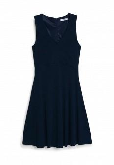 Синее осеннее платье Mango
