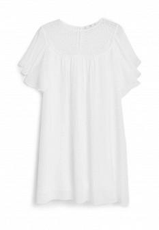 Белое осеннее платье Mango