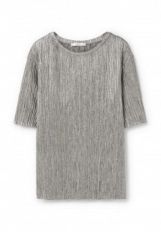 Женская серебряная футболка Mango