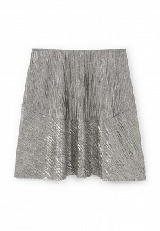 Серебряная юбка Mango
