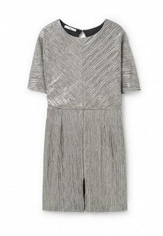 Серебряное платье Mango