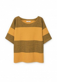 Женская желтая осенняя футболка