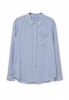 Женская голубая рубашка Mango